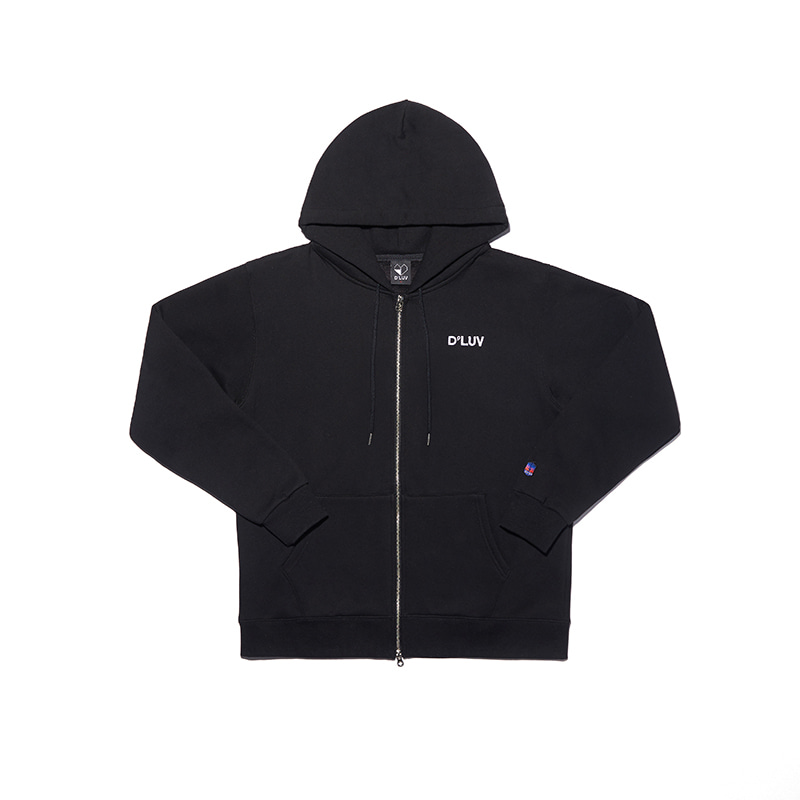 Two way open hoody zip-up(BK)
